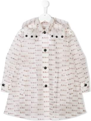 Burberry logo pattern raincoat