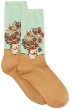 Hot Sox Women's Sunflower Artist Series Fashion Crew Socks