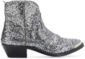 Golden Goose glitter ankle cowboy boots