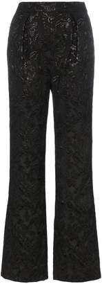 Erdem carin silk jacquard trousers