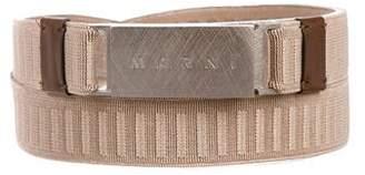 Marni Elasticized Skinny Belt