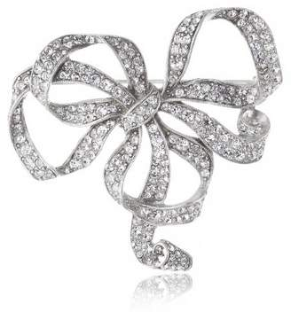 Swarovski Ben-Amun Jewelry Crystal Bow Brooch