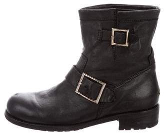Jimmy Choo Youth Moto Ankle Boots