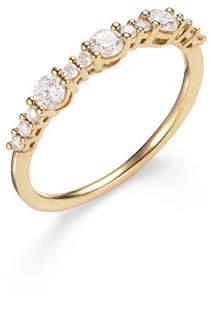 Lana 14k Three Large Diamond Stack Ring, Size 7