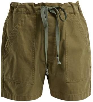 Chimala Tie-waist patch-pocket cotton-twill shorts
