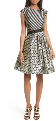 Women's Ted Baker London Reetah Side Cutout Fit & Flare Dress $465 thestylecure.com