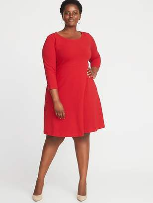 c80e9ae8295 at Old Navy · Old Navy Fit   Flare Plus-Size Scoop-Neck Dress