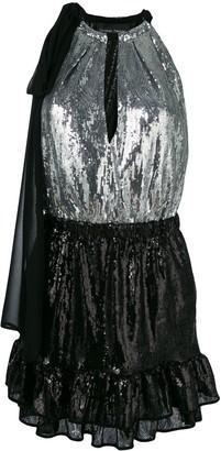 Christian Pellizzari two-tone sequinned dress