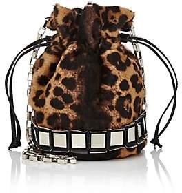 Tomasini Women's Lucile Calf Hair Bucket Bag - Leopard