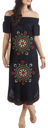 Mud Pie Elena Embroidered Maxi-Dress