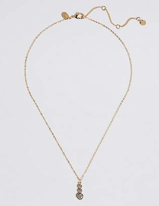 Marks and Spencer Gold Plated Triple Stone Necklace