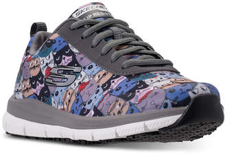 Skechers Women's Work Relaxed Fit: Comfort Flex Hc Pro - Scratchey Slip Resistant Walking Sneakers from Finish Line