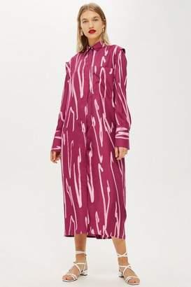 Topshop **Squiggle Split Shirt Dress by Boutique