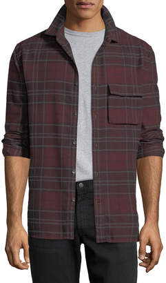 Joe's Jeans Men's Bellowed Plaid Herringbone Shirt