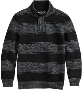 Boys 8-20 Urban Pipeline Striped Mockneck Sweater