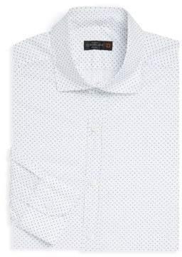 Corneliani Flower Bud Cotton Dress Shirt