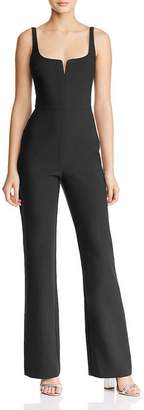 LIKELY Notched Neckline Straight-Leg Jumpsuit