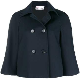 RED Valentino double breasted cape jacket