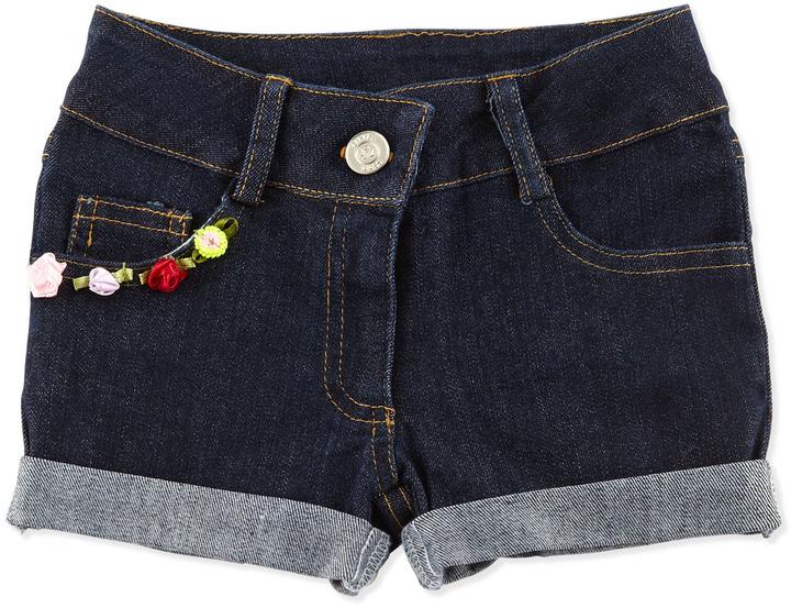 Little Mass Cuffed Denim Shorts, 2T-4T