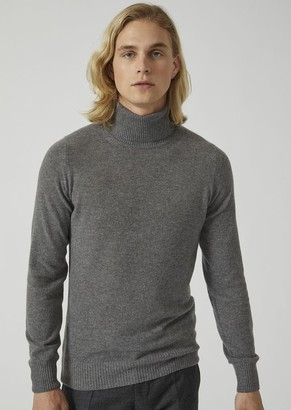 Emporio Armani Polo Neck Sweater In Pure Cashmere