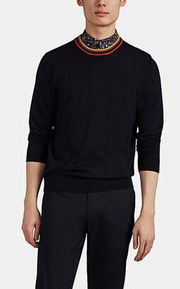 Paul Smith Men's Striped-Collar Wool Sweater - Blue