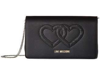 Love Moschino Crossbody Bag w/ Thin Chain Strap
