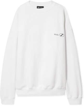 we11done Oversized Printed Cotton-jersey Sweatshirt - White
