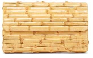 Glorinha Paranagua Large Bamboo Clutch Bag - Womens - Light Brown