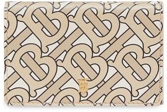 Burberry Small Monogram Print Leather Folding Wallet