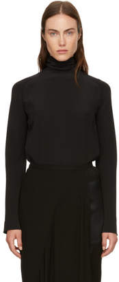 Haider Ackermann Black High Neck Blouse