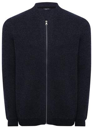M&Co Knitted zip front cardigan