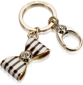 Henri Bendel Bendel Bow Stripe Key Fob