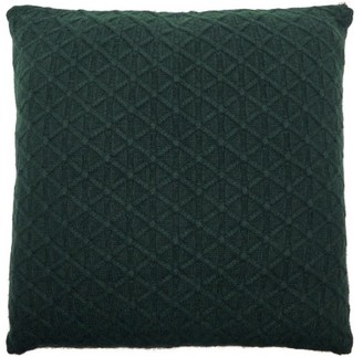 Allude Cable Knitted Cashmere Cushion - Dark Green