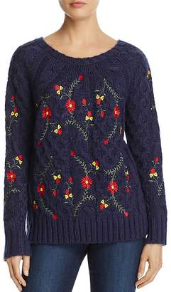En Créme Embroidered Sweater $78 thestylecure.com