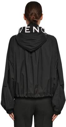 Givenchy Hooded Zip-Up Nylon Wind Breaker