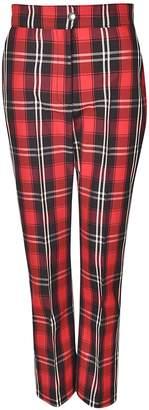 MSGM Plaid Cropped Trousers