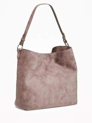 Old Navy Slouchy Faux-Suede Hobo for Women