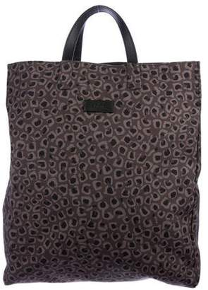 Pre Owned At Therealreal Gucci Canvas Animal Print Tote