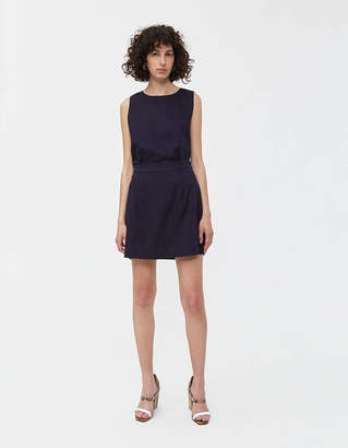 Shein Need Skirt in Navy Linen