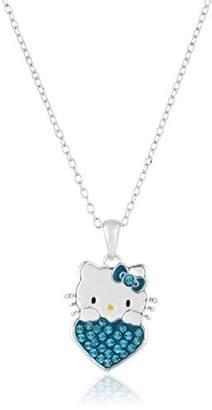 Hello Kitty Girls December Crystal Birthstone Heart Pendant Necklace