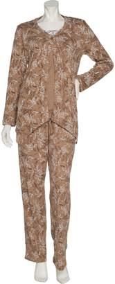 Carole Hochman Interlock Etched Floral 3-Piece Pajama Set