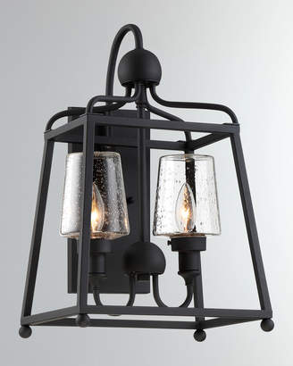 Libby Langdon Sylvan 2-Light Black Forged Outdoor Wall Mount