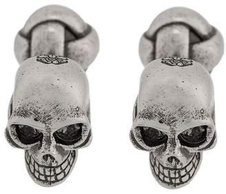 Alexander McQueen engraved skull cufflinks