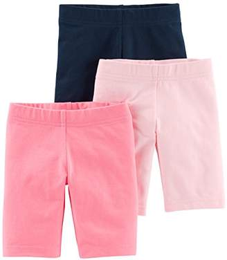 Carter's Simple Joys by Toddler Girls' 3-Pack Bike Shorts