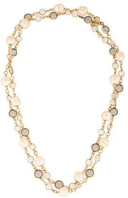 Chanel Faux Pearl & Crystal Gripoix Station Necklace $695 thestylecure.com
