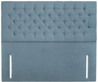 Debenhams Sleepeezee - Light Blue Plush Velvet 'Chester' Headboard