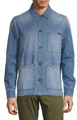 Nudie Jeans Faded Long-Sleeve Button-Down Shirt