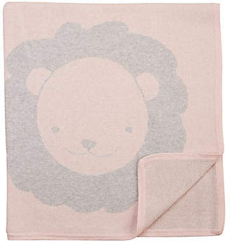 Barneys New York Lion Cotton-Cashmere Baby Blanket - Pink