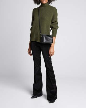 Frame Side-Slit Turtleneck Sweater