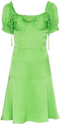 Cult Gaia scarlett bustier faille dress